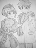 Sakura and Syaoran by Rosemev