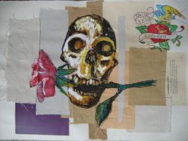 Skull And Rose:Still Life by 3FF3CT