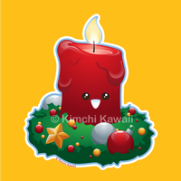 Christmas Candle by kimchikawaii