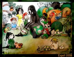 Snape with Children by Expell-HUN