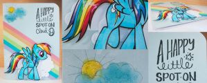 Card - My Little Pony - Rainbow Dash on Cloud 9 by kendravixie