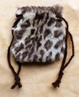 Leopard cat drawstring pouch by lupagreenwolf
