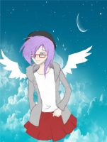 Hipster angel Chelle by SourKiss