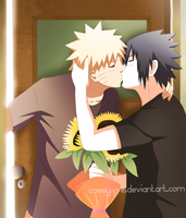 Sunflowers - NaruSasu by Cassy-F-E