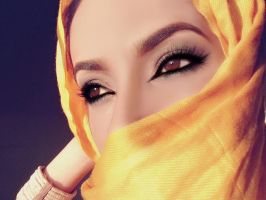 yellow stock hijab by Desert-Winds