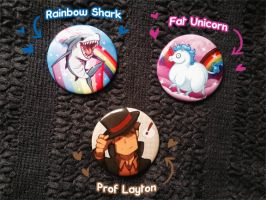 Buttons for sale! :D by zillabean