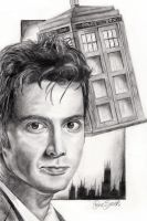 David Tennant as the Doctor by deedeedee123