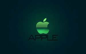 Apple Wallpaper GREEN by 1madhatter