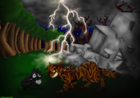 Tigerstar and Ravenpaw by theanimemaster2