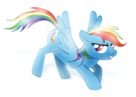Rainbow Dash (Alpha Channel) by nicolaykoriagin