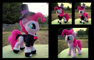 Tuxedo Pinkie Pie by fireflytwinkletoes