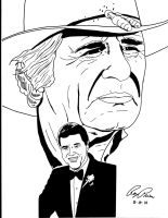 Dallas: J.R. and Jock Ewing by RoyPrince