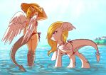 Dragons and bikinis by Adlynh