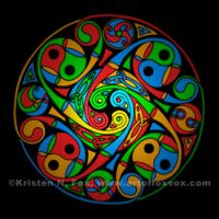 Celtic Stained Glass Spiral by foxvox