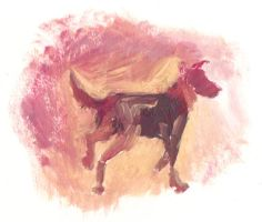 Dog Painting by Ellakins