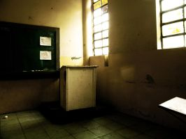 Old and Dark Classroom by MikePetrucci