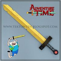 Adventure Time Golden Sword of Battle Papercraft by Tektonten