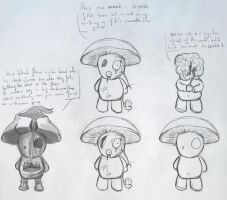 Mushroom peoples - Make it Rain concept art by flotosor
