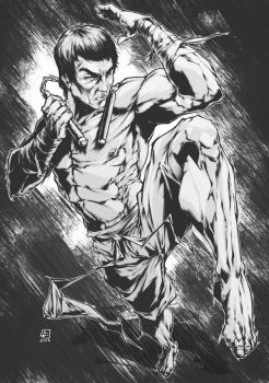 BRUCE LEE commission by marvelmania