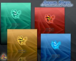 Aqua sign Boot Pack by klen70