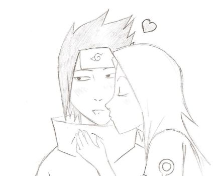 SasuSaku little kiss by LadraDiFragole