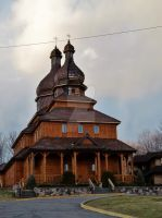 Wooden Church in Johnson City by ShilohsArts