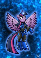 Blue Lantern Twilight Sparkle by Berty-J-A