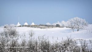 winter landscape romania by a-b-n