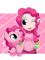 pinkie pie and gijinka by hoyeechun