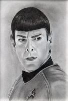 Spock - Zachary Quinto by Stefans-Artworks
