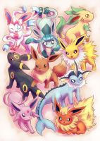Eeveelutions by Neesha