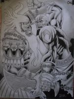 Kratos VS Ares by macacaralho