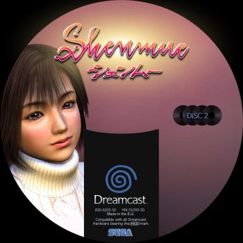 GD label dreamcast shenmue GD2 by Anarkhya