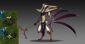 Azir concept art by Lonewingy