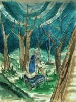 In the forest by Shraeliah