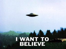 I want to believe wallpaper by Pencilshade