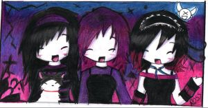 aza, miharu and me by lovescraf