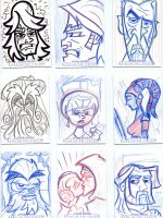 Star Wars-Galactic Files Sketch Cards #1 by mikehampton
