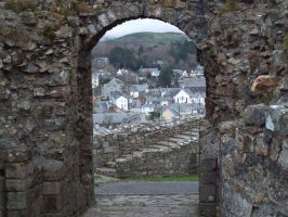 Criccieth from the Castle by buttercupminiatures