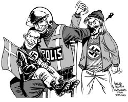 Swedish Nazi rights guaranteed by Latuff2