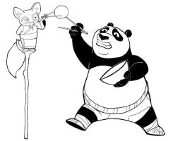 King Fu Panda- line art by MikeDimayuga
