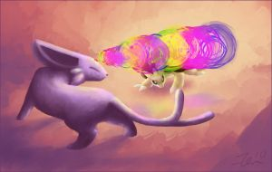 Espeon vs Sandslash by Zenity