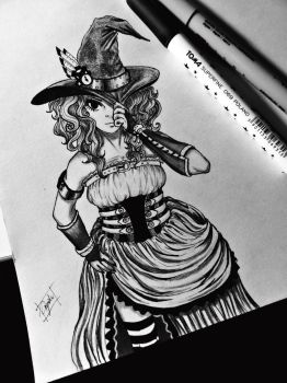 Steampunk Witch by Sustinere