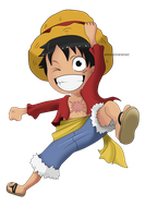 Monkey D. Luffy Chibi by Kanokawa