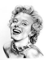 Beautiful Marilyn Monroe by ferenczyimre