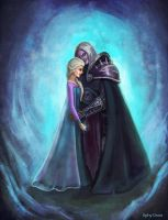 The cold never bothered me anyway. Elsa and Arthas by Ephy-Drow