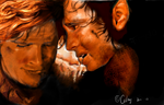 Frodo and Sam by Celay