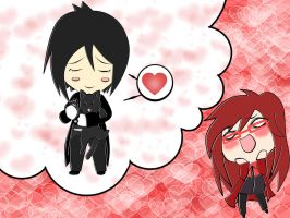 Grell's Daydreaming by hatirrisworldproject