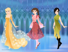 Snow Queen Phyllis, Windy, and Narnia by FluidGirl82