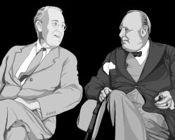 fdr and churchill by lemonfruitpie